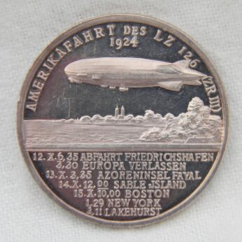 GERMANY 1924 airship LZ126 Proof silver medal