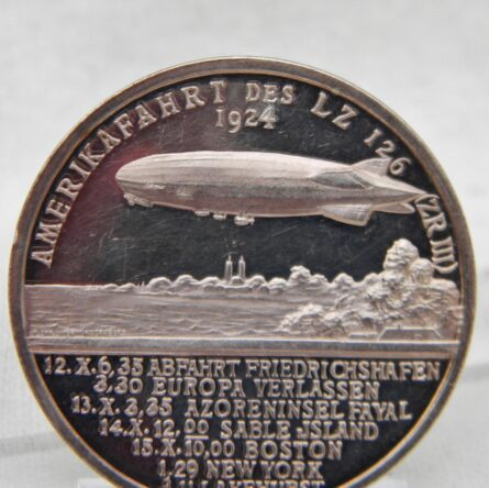 GERMANY 1924 airship LZ126 silver PROOF