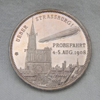 Germany 1908 airship silver medal