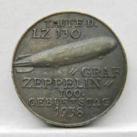 Germany Karl Goetz 1938 airship LZ130 medal