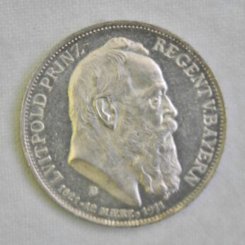 Germany Bavaria 1911D silver 3 Mark