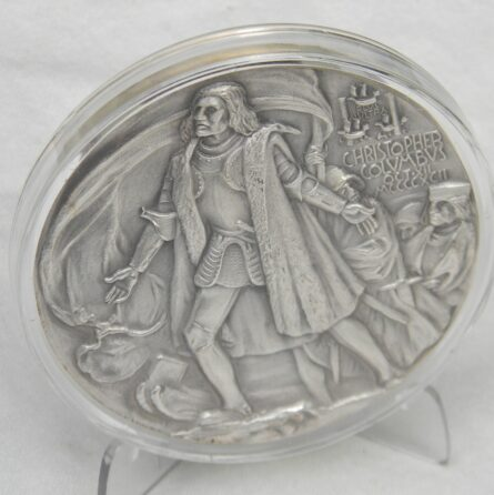 Columbus America discovery silver