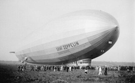 LZ127 Graf Zeppelin on LI, NY in 1929