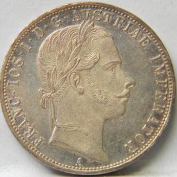 Austria 1859A silver Florin Proof