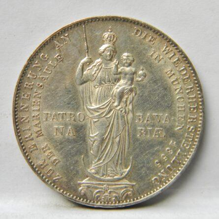 Bavaria 1855 silver 2 Gulden Madonna