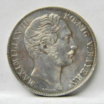 Bavaria 1855 silver 2 Gulden Madonna monument