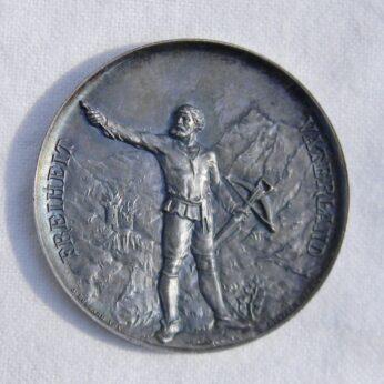 Switzerland Luzern 1889 silver shooting medal