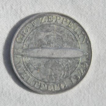 Germany 1930A Graf Zeppelin silver 5 Mark