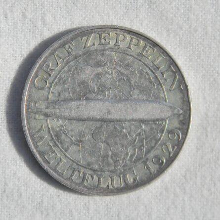 Germany 1930A Graf Zeppelin silver 5 Mark