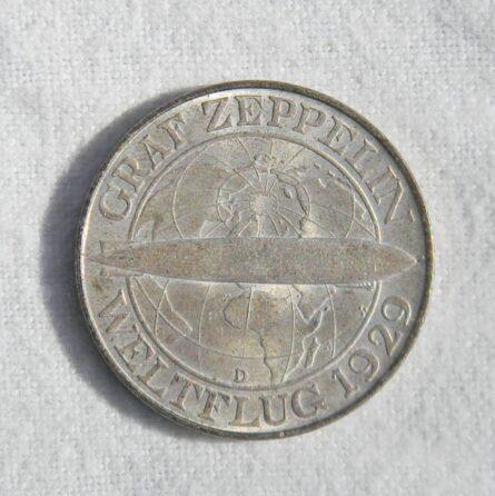 Germany 1930D Graf Zeppelin silver 3 Mark