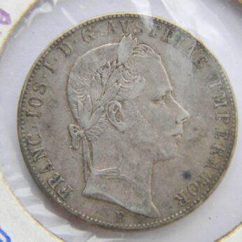Austria 1857B silver Florin