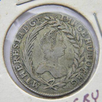 Hungary 1763KB silver 20 Krajczar