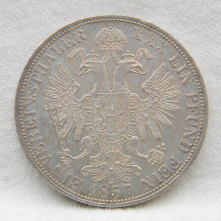 Austria 1857A silver Thaler/Taler