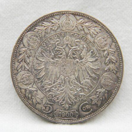 Austria 1900 silver 5 Corona