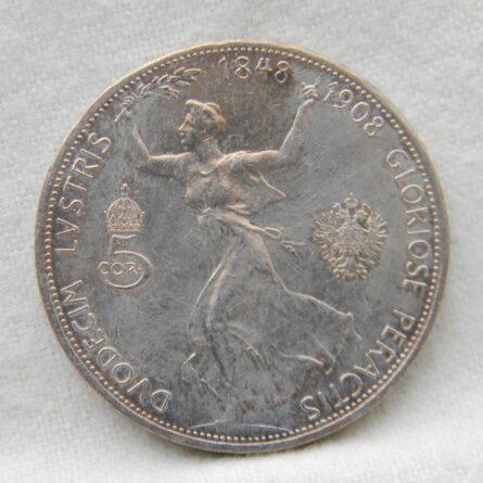 Austria 1908 silver 5 Corona
