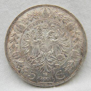 Austria 1900 silver 5 Corona XF