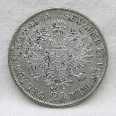 Austria 1841A silver 20 Kreuzer