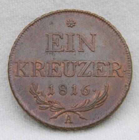Austria 1816A copper Kreuzer