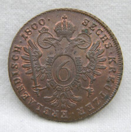 Austria 1800B copper 6 Kreuzer