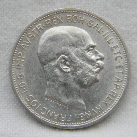 Austria 1912 silver 2 Corona