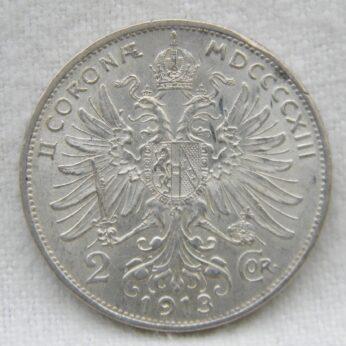 Austria 1913 silver 2 Corona
