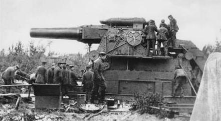 WW1 42cm Gamma Mörser gun