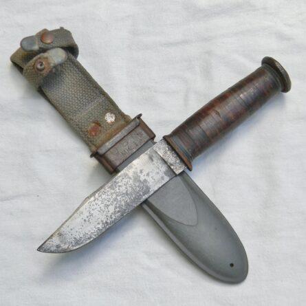 WW2 Ka-Bar USN Seabee fighting-utility knife