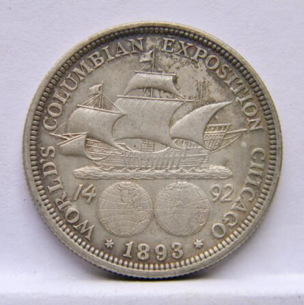 USA 1893 silver Columbus Half Dollar