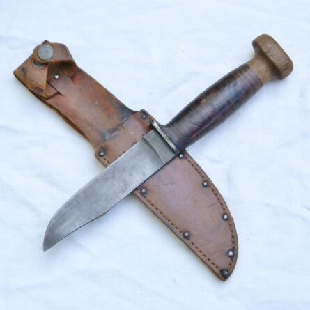 WW2 PAL MK1 fighting knife wood pommel