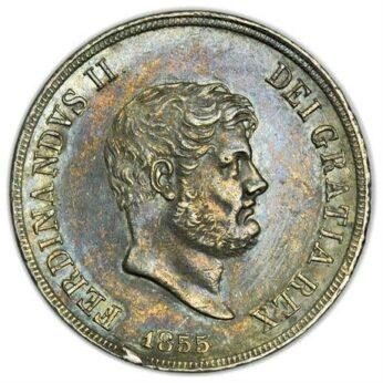 Italian States Naples 1855 silver 120 Grana