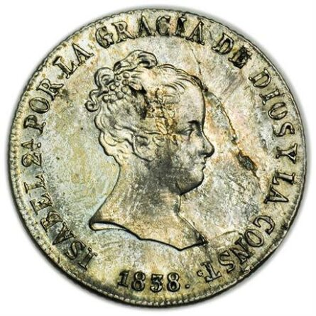Spain 1838 silver 4 Reales
