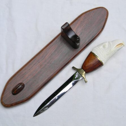Gerber carved ivory handle Mark II dagger