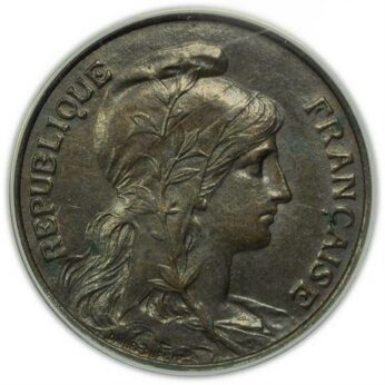 France 1907 bronze 5 Centimes