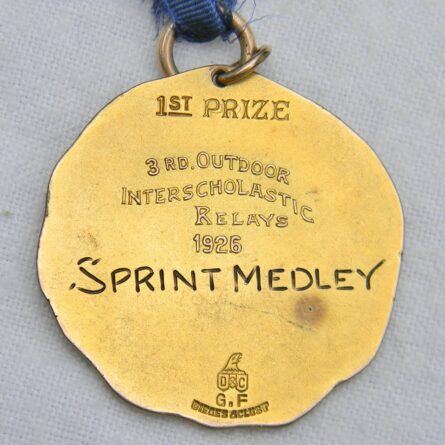 Wisconsin University 1926 sports gold medal