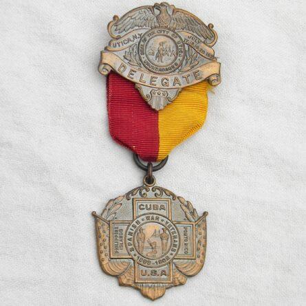 Spanish-American War Veterans 1921 Delegate badge