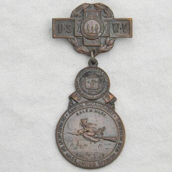 Spanish-American War Veterans badge 1913 Salem MA encampment