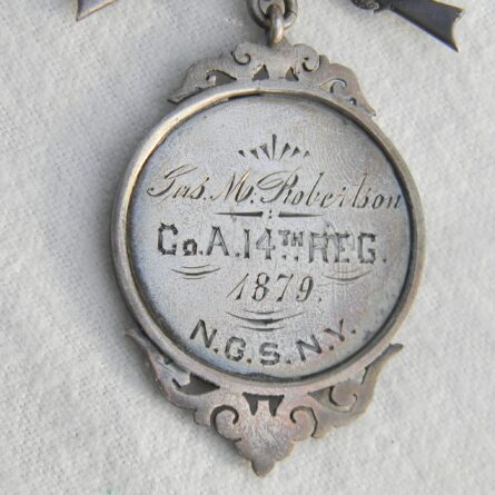 NY National Guard regimental Rifle Marksman silver badge