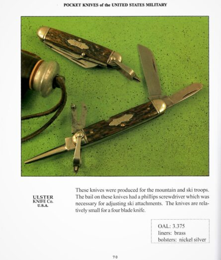 WW2 Ulster US mountain troops ski knife; Type 1