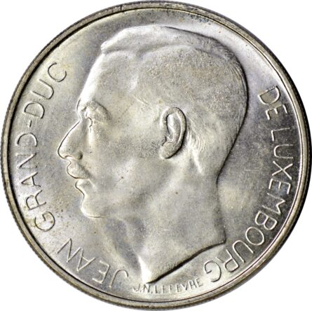 LUXEMBOURG 1964 silver 100 Francs