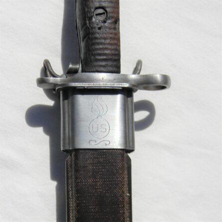 WW2 M1905 SA bayonet Detroit Gasket scabbard
