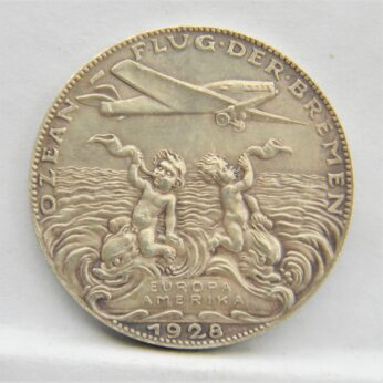 Germany Karl Goetz 1928 Europe-America flight silver medal