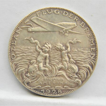 Germany Karl Goetz 1928 Europe-America flight silver medal