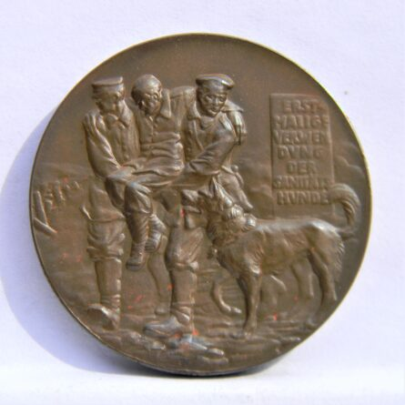 Germany Karl Goetz 1914 Red Cross War Dogs medal