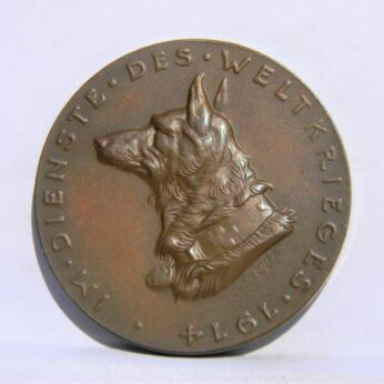 Germany Karl Goetz 1914 Red Cross War Dogs medal