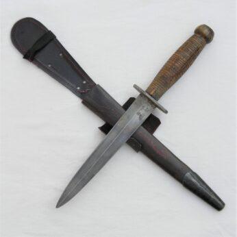 WW2 Fairbairn-Sykes style dagger wood handle