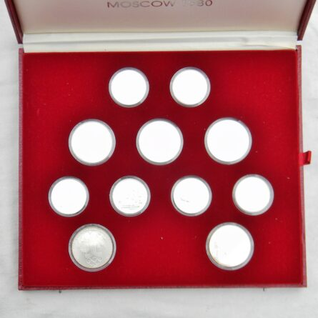 USSR silver 1980 Moscow Olympics 28-coin set