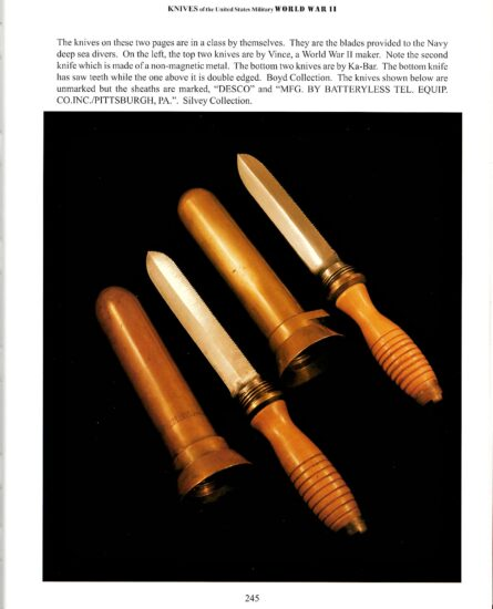 USN diving knives WW2