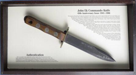 John Ek commando knife 1986 commemorative
