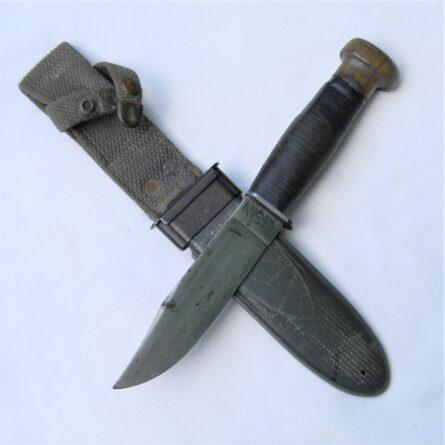 WW2 MK1 Fighting Knife wood pommel