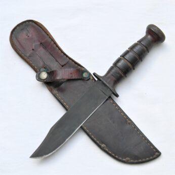 WW2 KA-BAR Parkerized Commando fighting knife